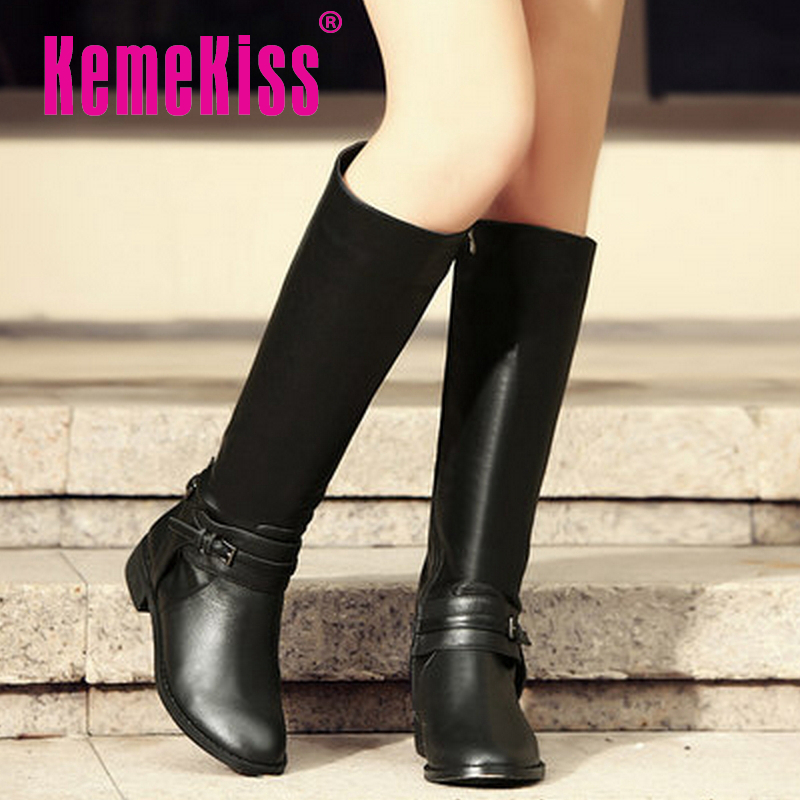 women real genuine leather flat over knee boots fashion long boot winter botas feminina brand footwear shoes R7624 size 34-39<br><br>Aliexpress