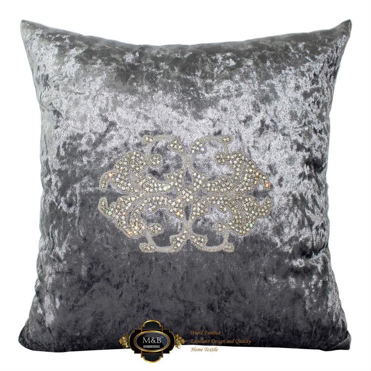 45x45cm 38x58cm hand made big diamonds silver flannelette model house hotel pillow case/cushion cover/pillow cover/cushion case(China (Mainland))