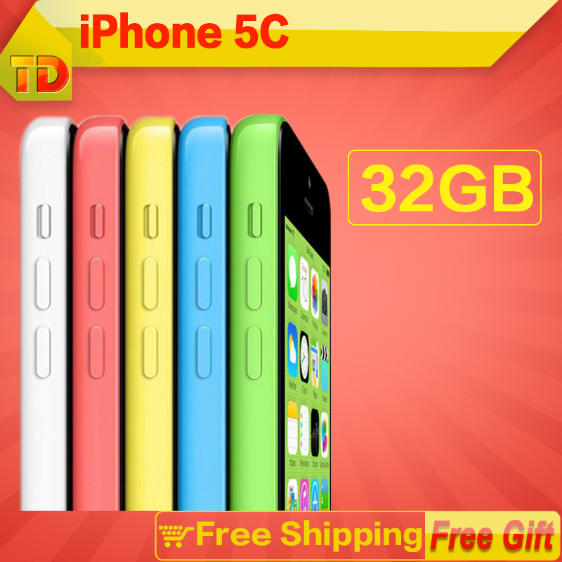 "Unlocked Apple iphone 5c cell phones Dual Core 8M Pix Camera 3G 4.0"" Capacitive Screen GSM WCDMA ios touch screen Free Shipping(China (Mainland))"
