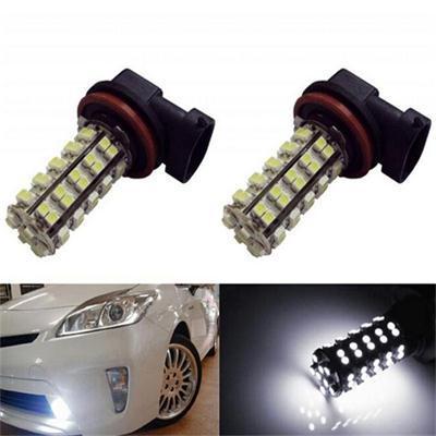 1pair Top Sale Fog Lights Lamp For Car H11 68 SMD DC 12V Hide White Auto Car Led External Light Bulb(China (Mainland))
