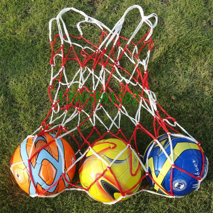 5pcs/lot Football Net Bag Sack for Rugby, Basketball, Football Training Balls(China (Mainland))