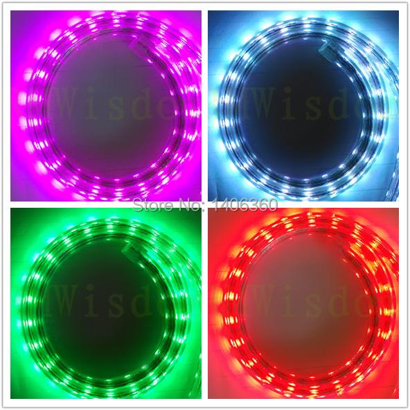 SMD 5050 LED Strip AC220V 45 W/5m RGB Waterproof Strip neon christmas lights rgb led controller power supply plug RGB lighting(China (Mainland))