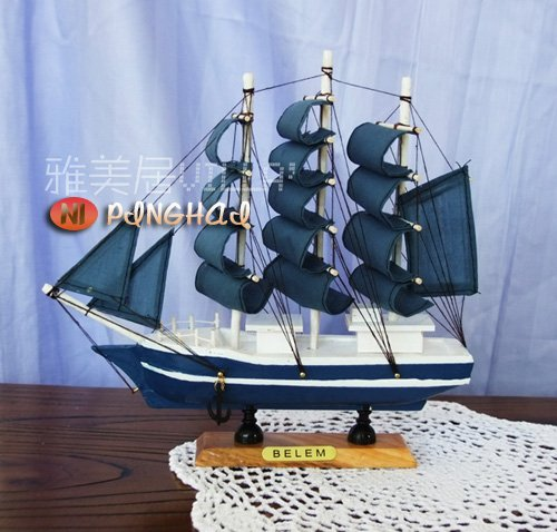 wooden ship modle,Mediterranean style, hand-made solid wood boat, process vessels, models, smooth sailing+FREESHIPPING - Ping Hai [ Love Dreams / Life Home ] store