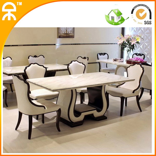 1.6 meter marble dining table for dining room furiture including 6 pcs dining chair(China (Mainland))