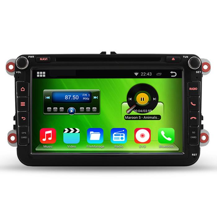 HD 1024*600 Android 4.4.4 PC Car DVD GPS For Volkswagen VW Golf Passat MK5/6 Polo Jetta Tiguan Caddy Skoda Fabia Octavia Seat(China (Mainland))