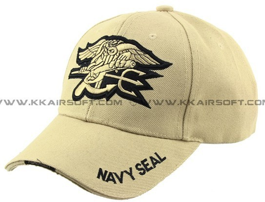 Navy Seal logo Baseball Cap Tan [CP-13-TAN](China (Mainland))