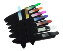 """Glass Nail Files Crystal File Nail Buffer With Companion Black Sleeve Colorful  5.5""""/14CM #NF014 10000X  /lot(China (Mainland))"""