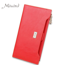 Buy 2017 Luxury Genuine Leather Women Long Slim Wallet Zipper Female Purse Brand Clutch Phone Coin Photo Credit Card Holder Wristlet for $8.45 in AliExpress store