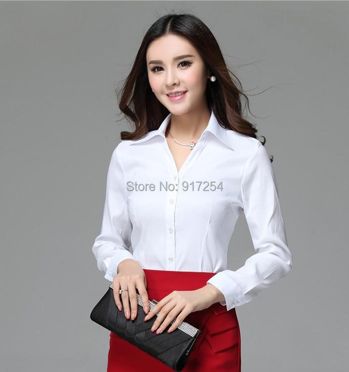 New 2014 Spring Autumn Femininas Women Work Wear Blusas Tops Clothes Business Blouses Formal Shirt Spring Autumn Clothes Shirts(China (Mainland))