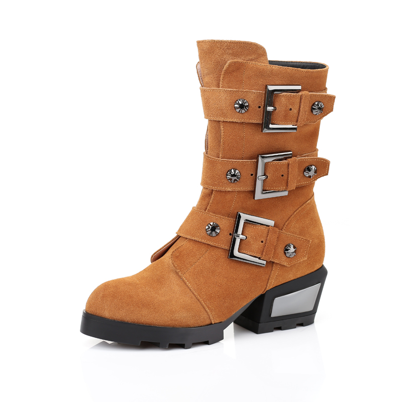 2015 New Womens Winter Fashion Boots Wind Boots with Low Warm Essential Leisure Boots<br><br>Aliexpress