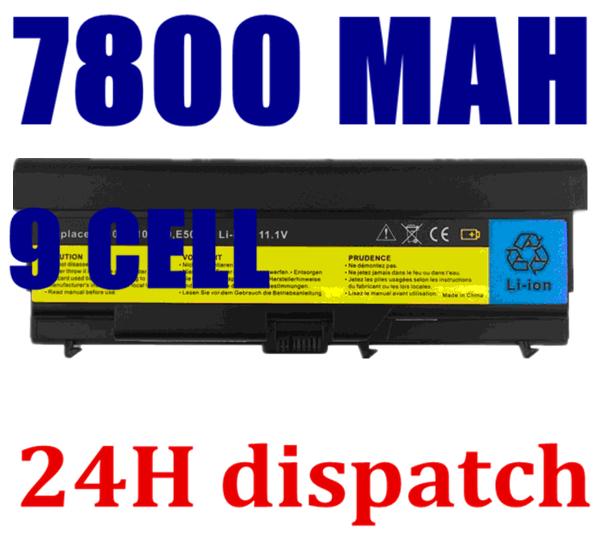 7800mAh Battery For Lenovo ThinkPad E40 E50 L410 L412 L421 L510 L512 L520 SL410 SL510 T410 T410i T420 T510 T510i T520 W510(China (Mainland))