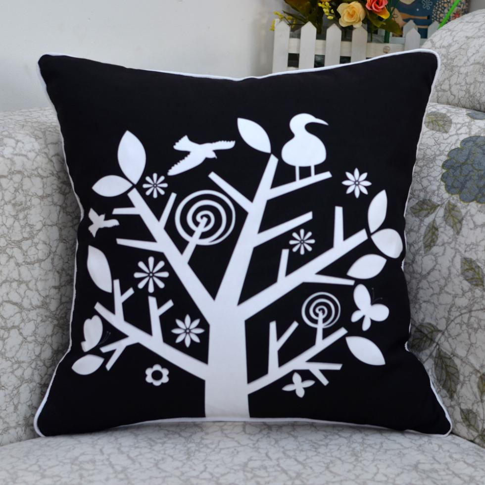 Black Microfiber Throw Pillows : 18 * 18
