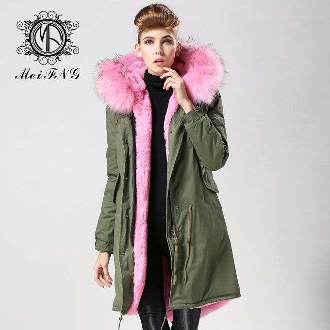 Fur Hooded Parka Jacket
