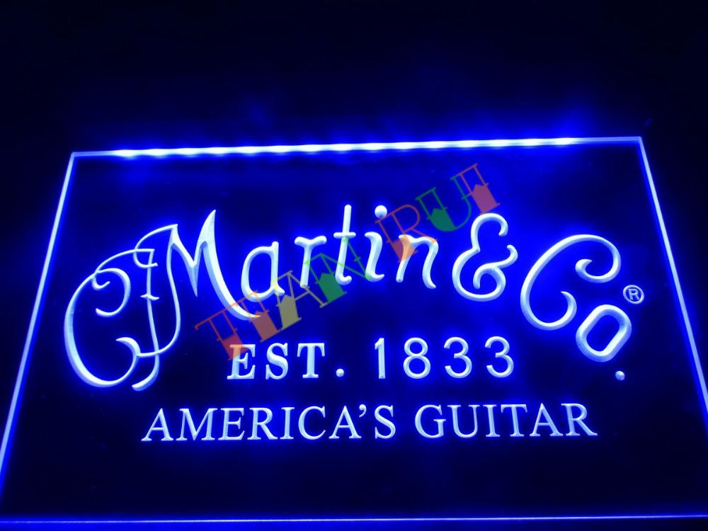LL169- Martin Guitars Acoustic Music LED Neon Light Sign home decor crafts(China (Mainland))