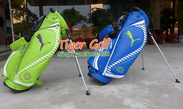 New Golf bags High quality PU Golf stand bag with Blue/Green colors 9.5 inches Golf Rack bag Free shipping(China (Mainland))
