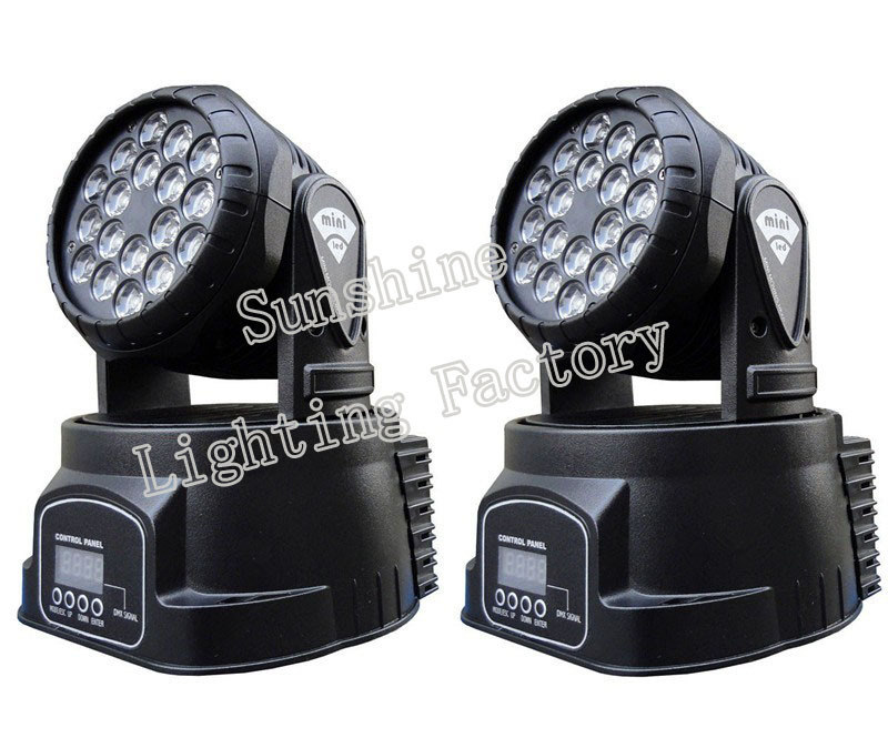 18*3W Led Moving Head Wash Light 60W RGB Led Moving Head DMX Mini Led Moving Head Wash lighting(China (Mainland))