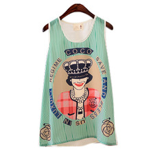 Hot Women Fitted Sleeveless T Shirt Graphic Printed T Shirt Vest Tank T Shirt Tops  S M L