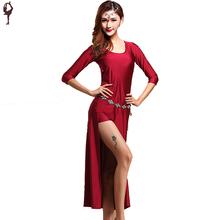 2016 Danse Du Ventre Costume 2 pcs (Robe + Sécurité Pantalon) Vêtements Pour la Danse Danca Ne Ventre Ropa De Danza Del Vientre Robe Indiano