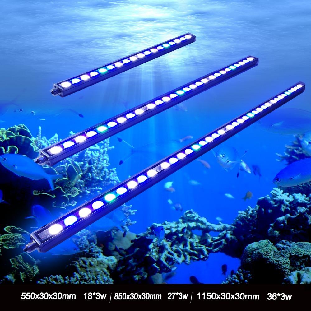 Best seller 54W/81W/108W Led Aquarium bar Light in High Power Aquarium led lighting beautiful your coral reef fish tank lamp(China (Mainland))