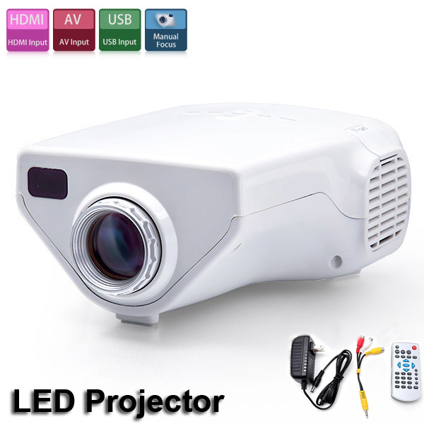 Popular E03 Tv Projector Mini Led Projector Home Theater: E03 16W Mini Portable Home Use White Multimedia LCD System