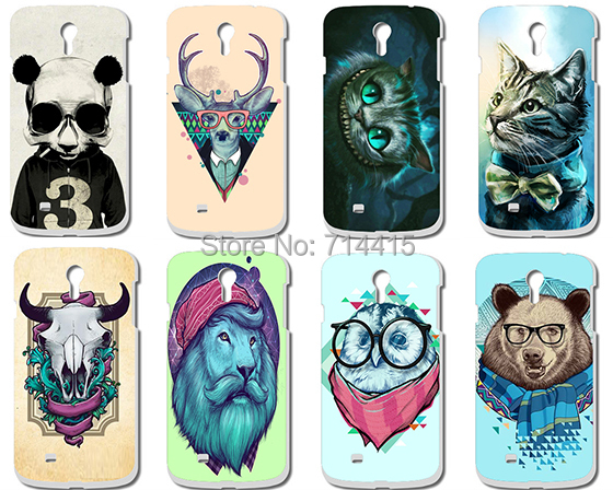 Cool Cartoon Animal mult-styles pattern customs printed Hard Case Cover for Samsung galaxy S4 I9500 SIV GT-I9500 S IV(China (Mainland))