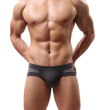 70110 Amazing Summer Mens Sexy Underwear Low Waist Cotton Briefs Underpants for Men  L XL XLL Free Shipping(China (Mainland))