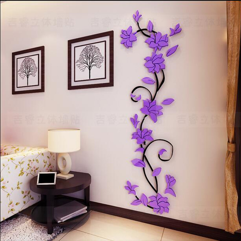 3d wall decals for living room p wall decal for Home decor 3d stickers