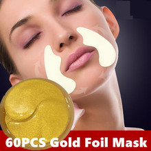 60PCS Nasolabial Folds Fine Line Remove Mask Original Anti-Wrinkle Anti-Aging Gold Foil  Forehead Lifting Firming Face Mask