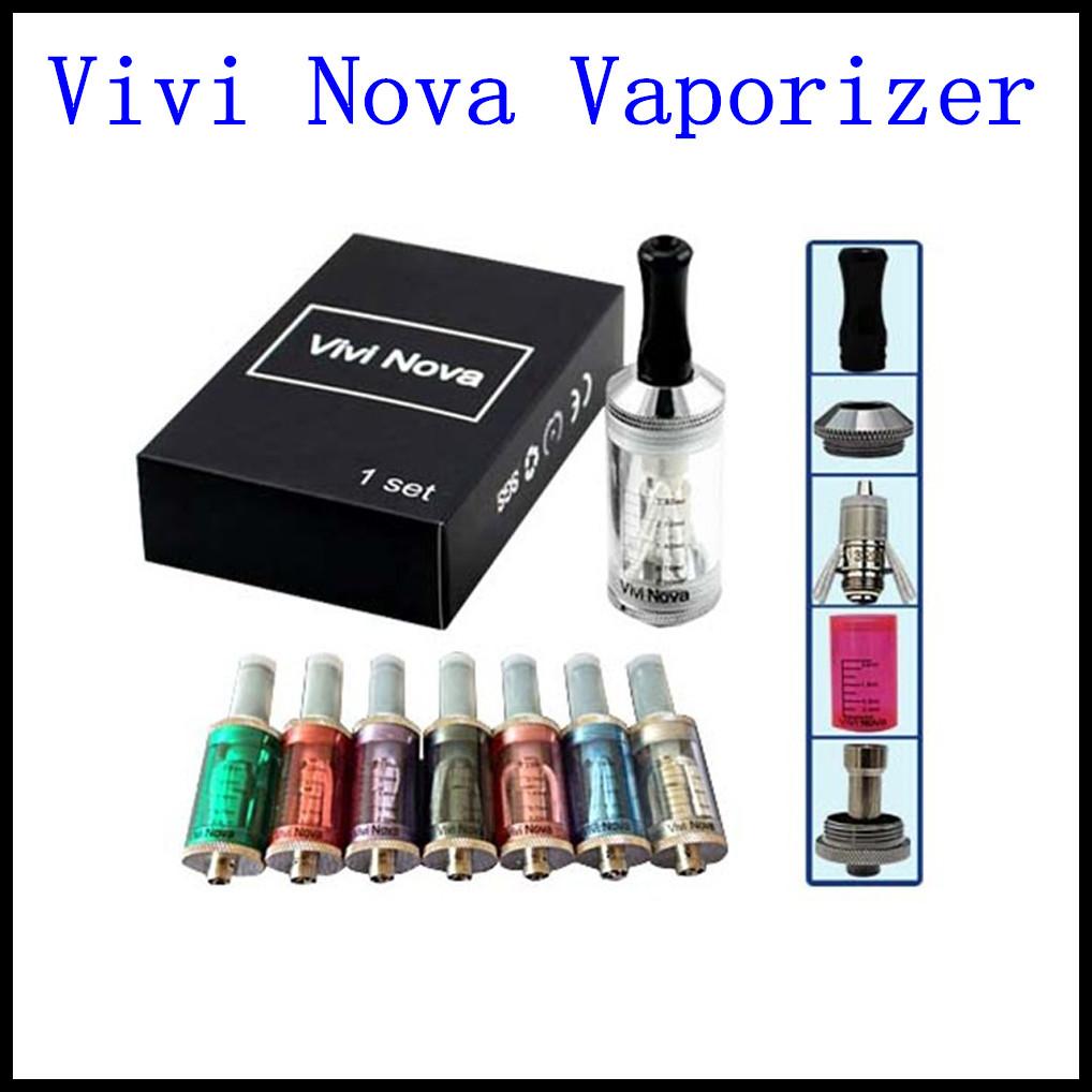 huge vapor 3.5ml vivi nova atomizer e cigarette vaporizer kit replaceable 2 coils ego battery