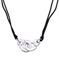France Famous Brand Jewelry 925 Sterling Silver Handcuff Pendant Necklace For Women Top Quality Silver Necklace