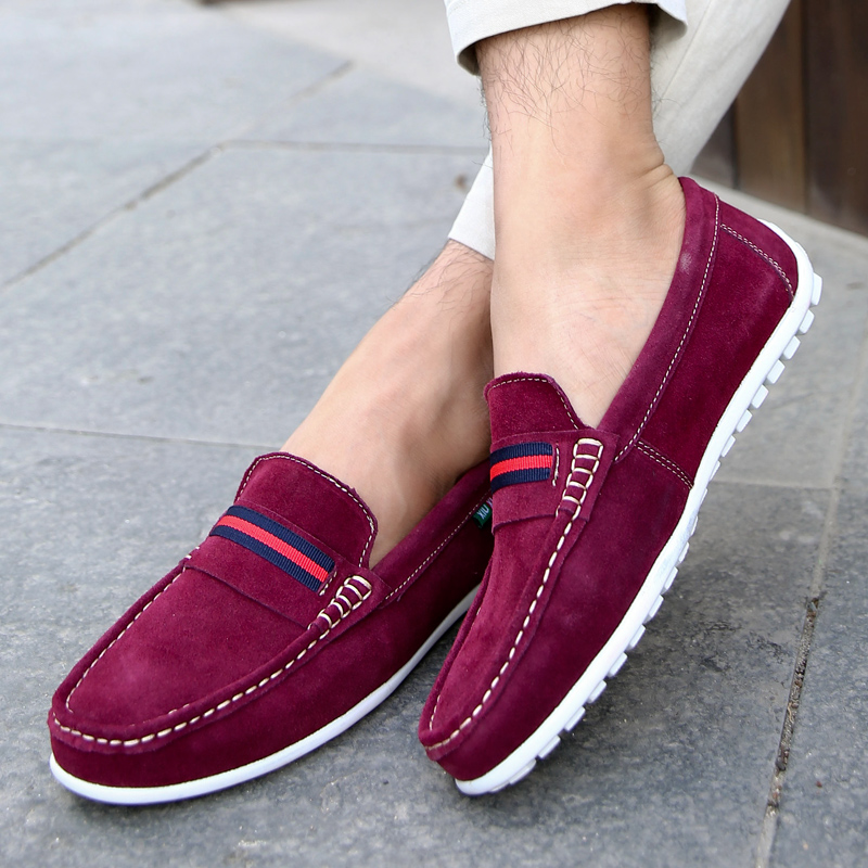 2015 Hot Sales Men's Loafer Shoes Casual Shoes England Men Flat Shoe Driving Shoe Fashion Brand Flat Handmade Moccasin Gommino(China (Mainland))