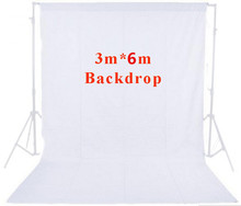 Buy CY High Quality Photo Studio 10ft x 20ft 3mx6m Solid White Muslin Backdrop Photography Backgrounds Backdrops Hot Selling for $63.35 in AliExpress store