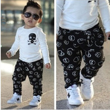 2015 Baby Boys Clothes Casual Casual Newborn Boys Clothing 95 Cotton Skull Infant New Born Toddler