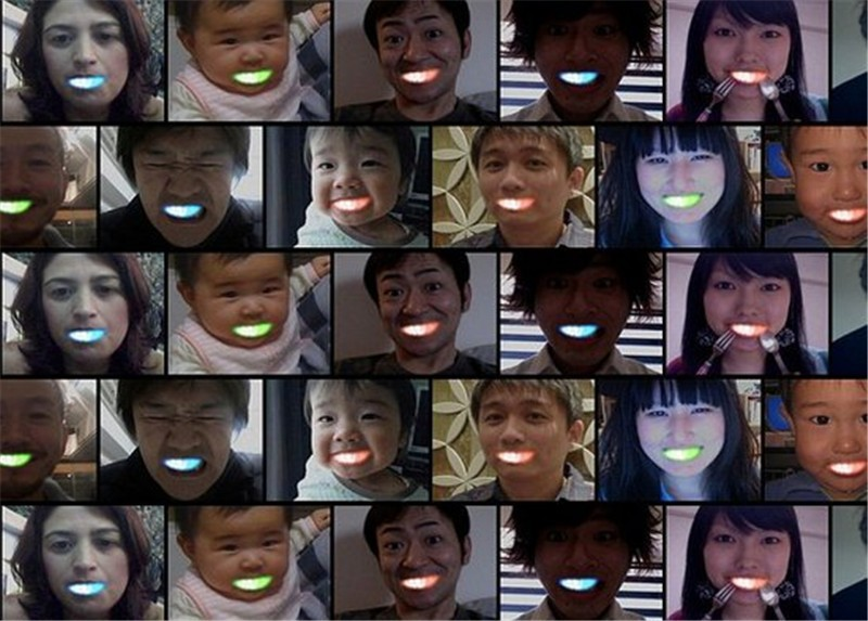 Halloween led Flashing Mouth flash mouth in multi-color! New fashion led lights for your teeth! Safe and easy to play!(China (Mainland))