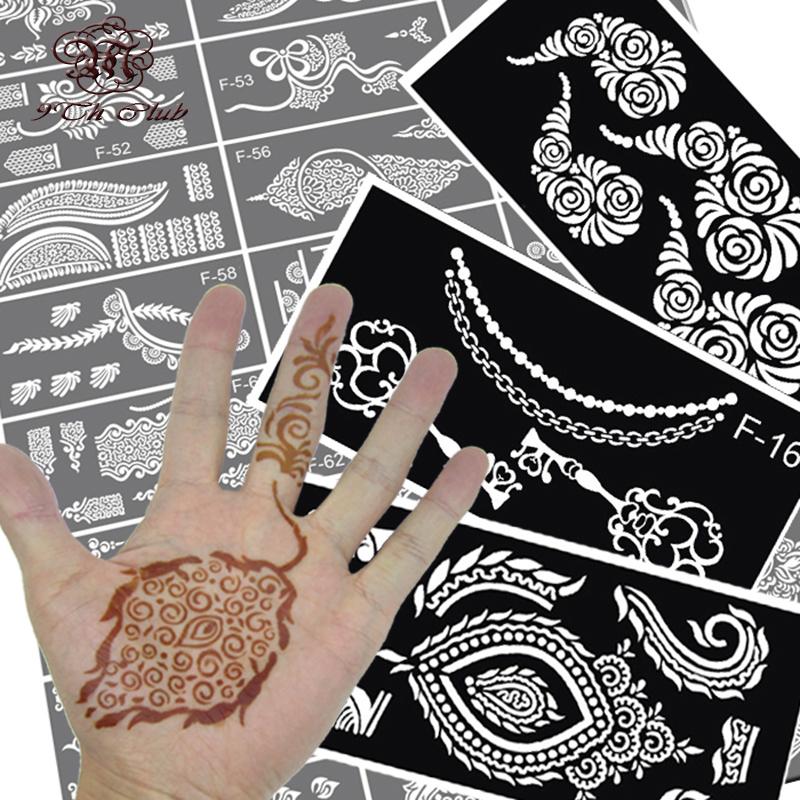 5pcs/lot Henna Tattoo Stencils Hand Flower ,Glitter Airbrush Temporary Indian Mehndi Henna Tattoo Stencil For Body Painting(China (Mainland))