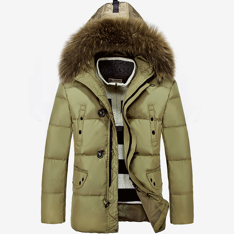 Winter Jacket Men Down Parka Men White Duck Down Jacket Comfortable Outdoor Men Casual Coat Solid Color Parkas Men Clothes