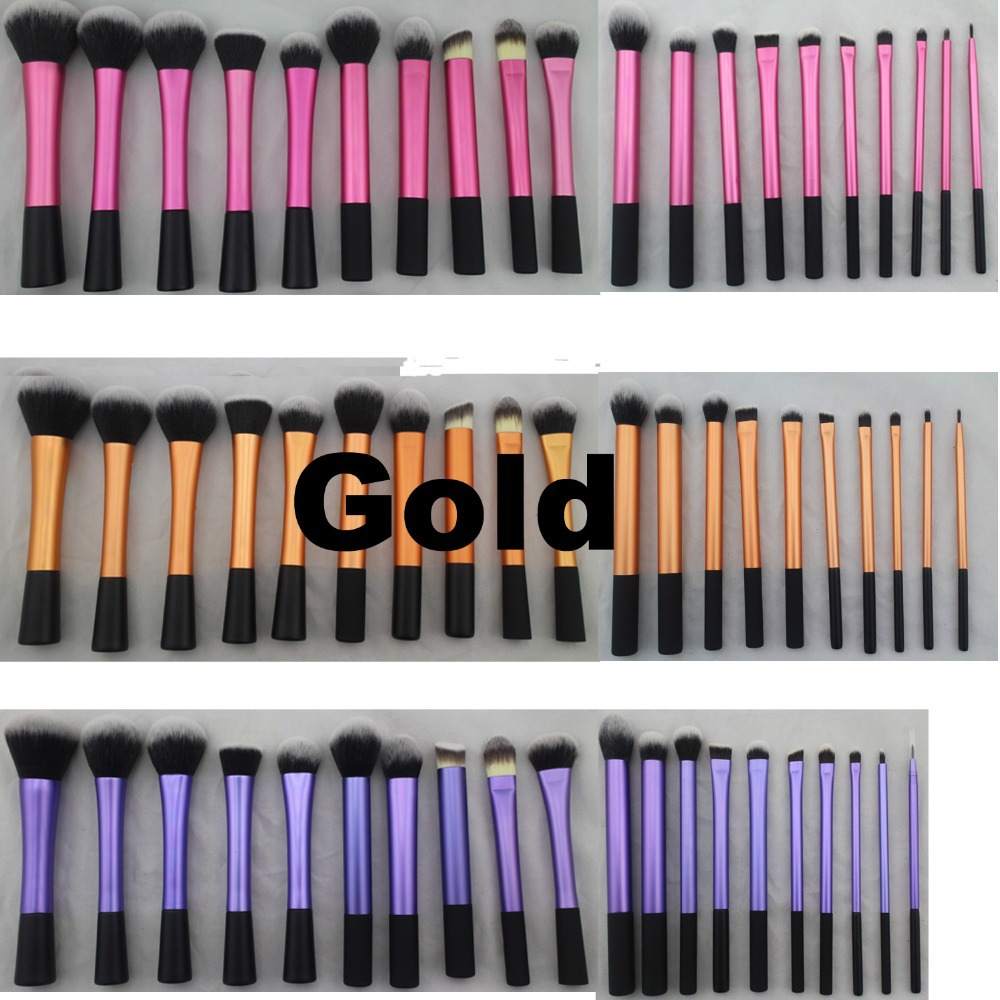 Sedona 20 Pieces soft hair dense gold makeup brush cosmetic complete kit Professional High Quality for gift or birthday(China (Mainland))