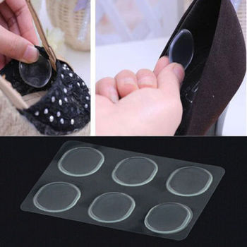 6 PCs/Lot Women Ladies Girls Silicone Gel Shoe Insole Inserts Pad Cushion Heel Grips Liner Foot Care