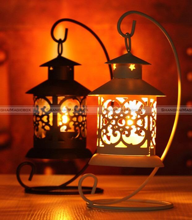 shanghaimagicbox Iron Moroccan Candlestick Candleholder