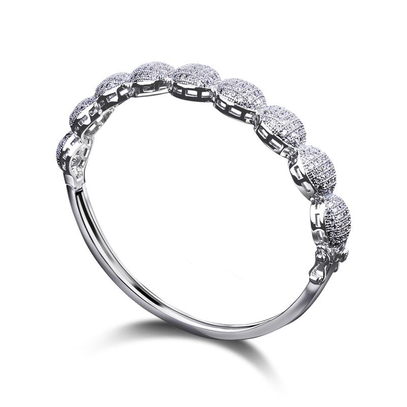 New Arrival Bangle Wedding Luxury AAA White Zirconia Full Rhinestones Bridal Bracelet for Women Free Shipping(China (Mainland))