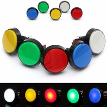 5 Colors LED Light Lamp 60MM Big Round Arcade Video Game Player Push Button Switch Best Price(China (Mainland))