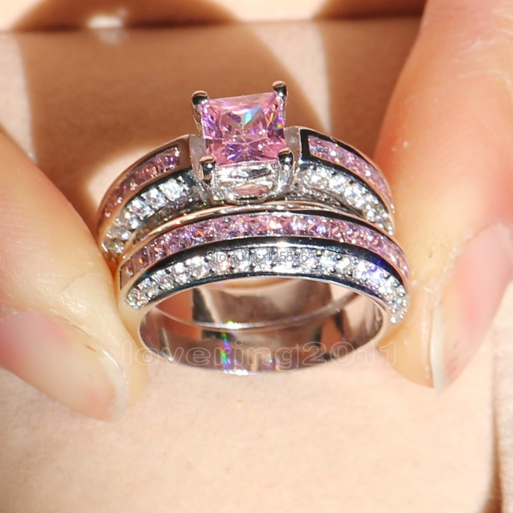 gemstone art sapphire deco diamond engagement pink non traditional ring