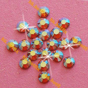 ss20 GENUINE Swarovski Elements AB Topaz ( 203 AB ) 720 pcs ( NO hotfix Rhinestone ) Round 20ss 2058 FLATBACK Crystal Glass Bulk