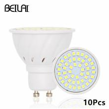 Buy BEILAI 10pcs 2835 GU10 Bombillas Led Bulbs Lights 220V 2835 Lampada De LED Lamp GU 10 Ampoule LED Spotlight Candle Luz Lamparas for $11.98 in AliExpress store