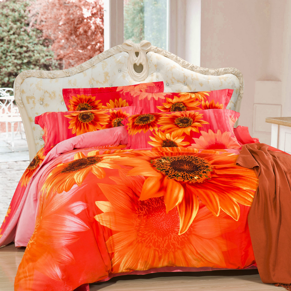 housse couette orange. Black Bedroom Furniture Sets. Home Design Ideas
