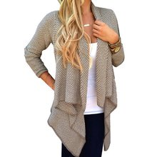 Buy YO Women Long Sleeve Knitted Sweater Cardigan Open Front Coat Top Outwear for $8.81 in AliExpress store