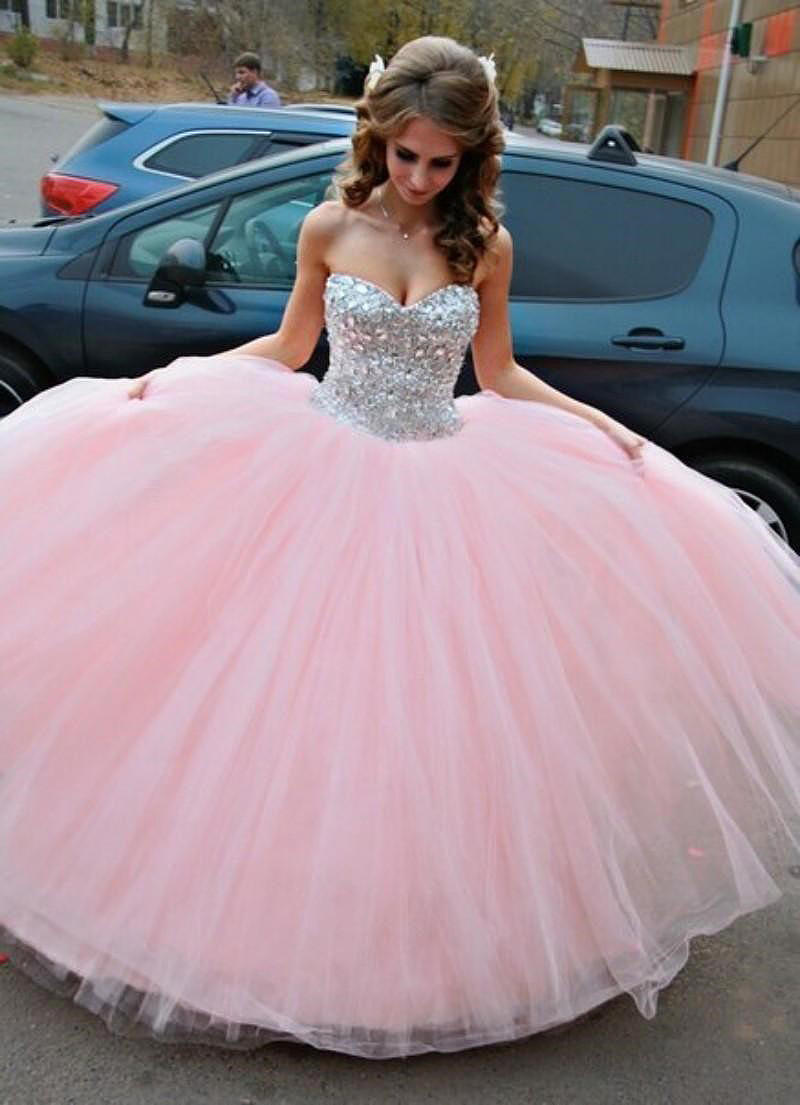 Free Shipping Sparkle Crystals Sweet 16 Dresses Sweetheart Ball Gown Pink Quinceanera Dresses 2015 New Arrival(China (Mainland))