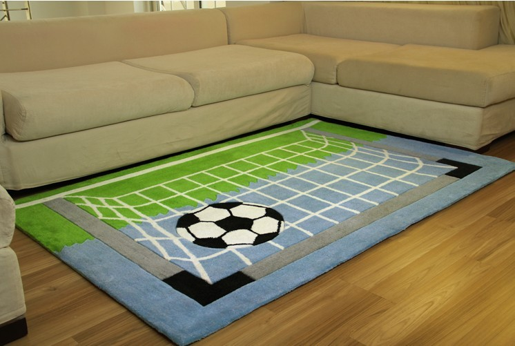 70 140cm cartoon bedroom carpet children room football field net living room mat baby crawling - Amazing style rugs for kids rooms ...