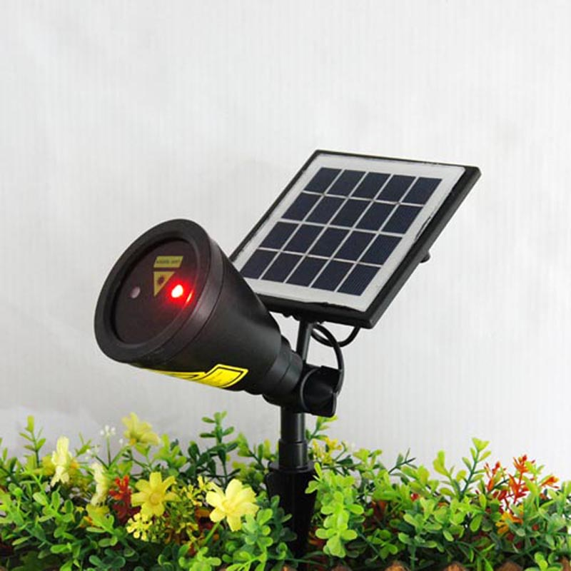 Solar Light LED Bulb Solar Power Panel Laser Light Spotlight For Garden Stage