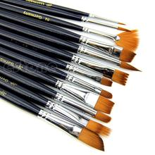 New tool for 12pcs Home Nylon Hair Paint Brush Set Artist Watercolor Acrylic Oil Painting Supplies(China (Mainland))